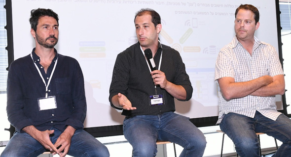 From right: Amihay Gornik, Asaf Gornik an Roy Shmuel. Photo: Israel Hadari