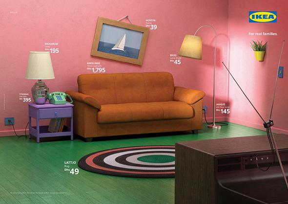 איקאה לפי סדרת טלוויזיה הסימפסונס, צילום: Ikea
