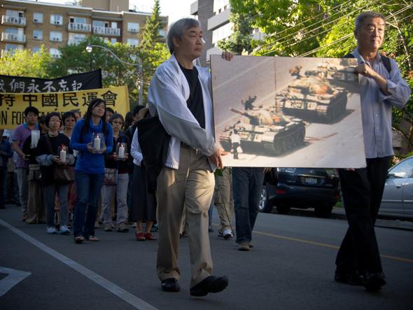 מחאה של גולים סינים בקנדה נגד מאורעות טיאננמן, צילום: שאטרסטוק