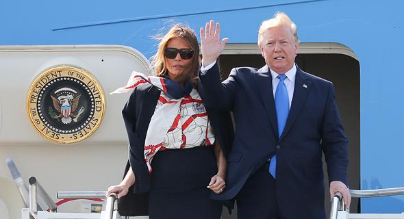 הנשיא דונלד טראמפ והגברת הראשונה מלניה טראמפ, צילום: איי אף פי