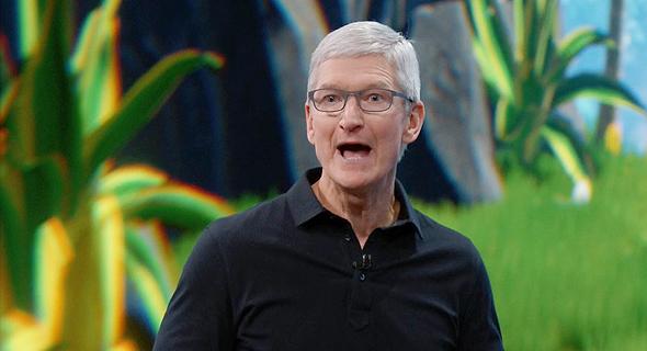 """מנכ""""ל אפל, טים קוק, מתוך שידור חי של אפל"""