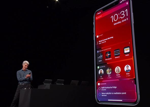אייפון XS מקס, מתוך אירוע המפתחים האחרון של אפל, מתוך שידור חי של אפל