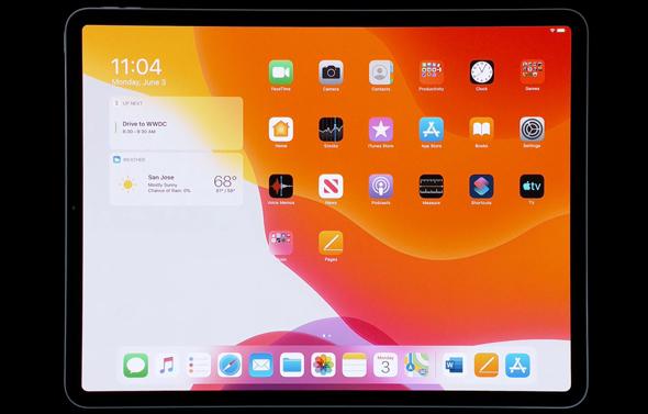 IPADOS אייפד מערכות הפעלה אפל WWDC 2019 אירוע השקת תוכנה 12, מתוך שידור חי של אפל