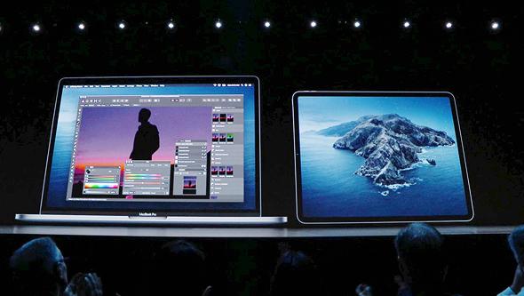 האייפד הופך למסך משני, מתוך שידור חי של אפל
