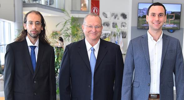 GuardKnox founders Idan Yaniv (left), Moshe Shlisel, and Dionis Teshler. Photo: Tom Bergman