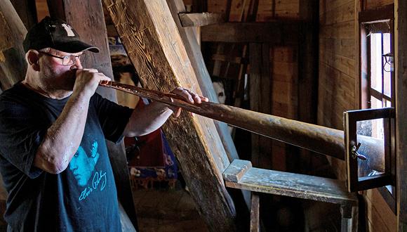 רולנד בויי תוקע בקרן, צילום: רועי דורי