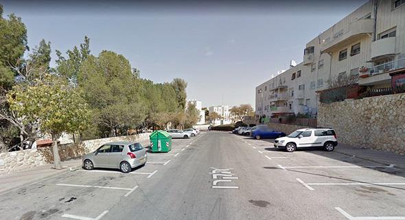 רחוב הקרן במעלה אדומים , צילום: Google Street View