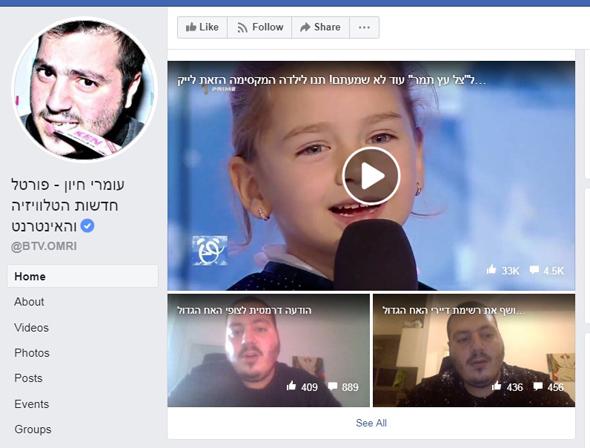 צנזורה פייסבוק עומרי חיון עירום, צילום: Facebook