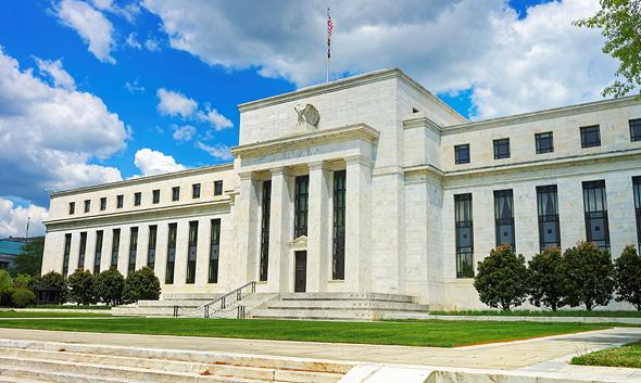 בניין הבנק הפדרלי. הותרת הריבית על כנה הפיגה את החששות ממיתון , צילום: שאטרסטוק