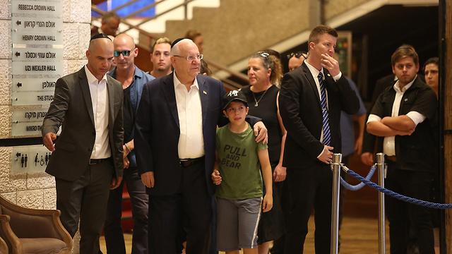 הנשיא ריבלין ובני משפחתו, צילום: עמית שאבי