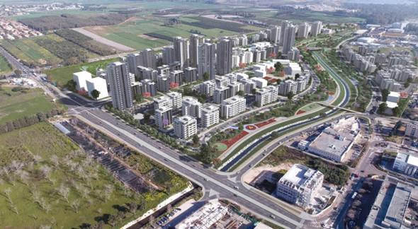 הדמיית השכונות החדשות באור עקיבא, קרדיט: __שורץ בסנוסוף אדריכלים ובוני ערים ויצחק פרוינד - ייעוץ, תכנון וקידום פרויקטים.
