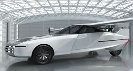 Simulation of NFT's flying car. Photo: NFT