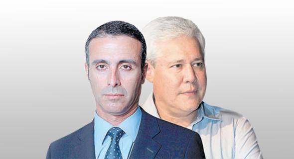 """מימין: מנכ""""ל מגדל דורון ספיר ו מנכ""""ל מנורה יהודה בן אסאייג"""