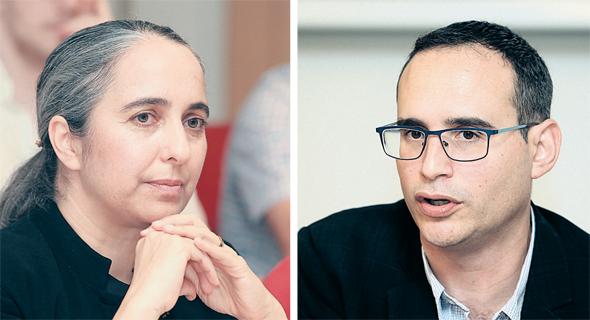 """מנכ""""ל הבורסה איתי בן זאב ויו""""ר רשות ני""""ע ענת גואטה, צילומים: אוראל כהן"""