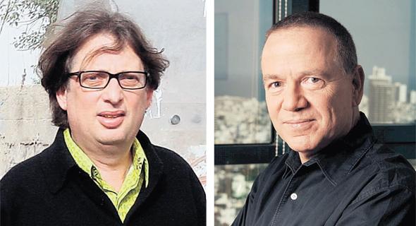 """מימין: יו""""ר בזק שלמה רודב ומוקי שנידמן, מבעלי השליטה בצור שמיר"""