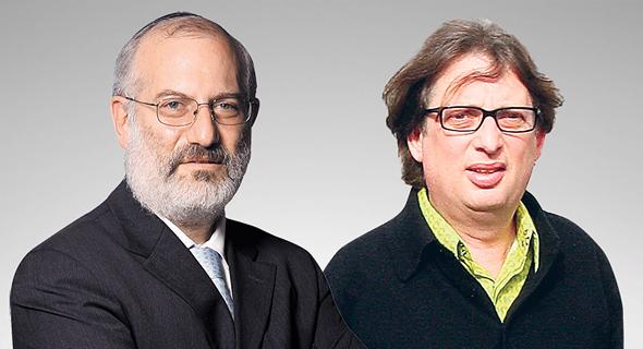 מימין מוקי שנידמן ו אדוארדו אלשטיין, צילום: אוראל כהן