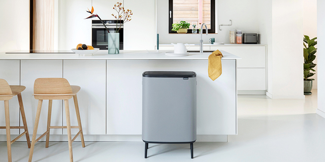 A garbage can by Dutch company Brabantia. Photo: D.C. Pack