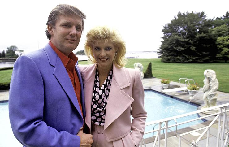 דונלד ואיוונה טראמפ באחוזה, 1980, צילום: גטי אימג