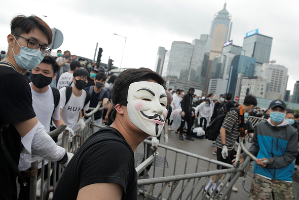 מחאה בהונג קונג, צילום: רויטרס
