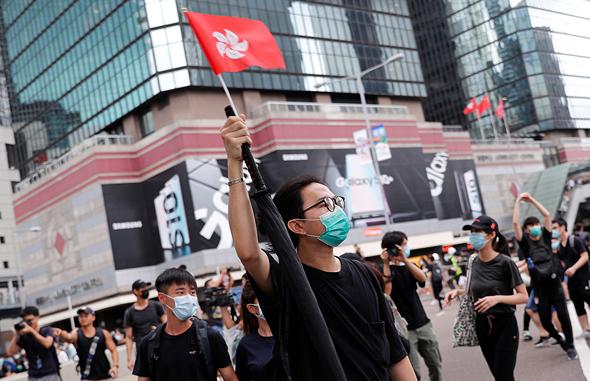 מחאה אזרחית בהונג קונג , צילום: רויטרס