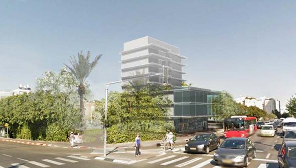 """הדמיית המבנה שיוקם בבור, הדמיה: יער אדריכלים, תוכן תכנון כלכלה וניהול בע""""מ"""