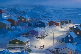 כפר בגרינלנד, צילום: Chu Weimin/2019 National Geographic Travel Photo Contest