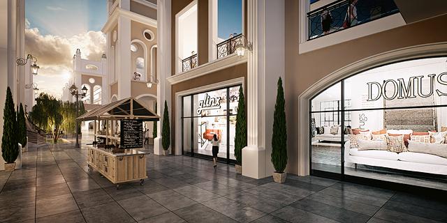 """הדמיית מתחם דיזיין סיטי זירת הנדל""""ן, הדמיה: 3DVISION"""