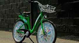 אופניים חשמליים ירוקים , צילום: עמית שעל