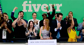 פייבר פתיחת מסחר fiverr, צילום מסך