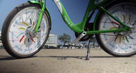 אופניים חשמליים של תל אופן, צילום: עמית שעל