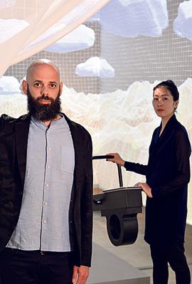 המעצבים בועז כהן וסאיאקה יממוטו, צילום: שי בן אפריים
