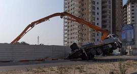 אתר הבנייה בקריית מוצקין, צילום: איחוד הצלה מרחב כרמל