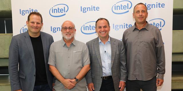 מימין: יניב גרטי, בוב סוואן, אבנר גורן וצחי וייספלד, צילום: עזרא לוי