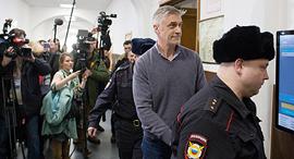 מייקל קלווי בבית משפט במוסקבה, צילום: בלומברג