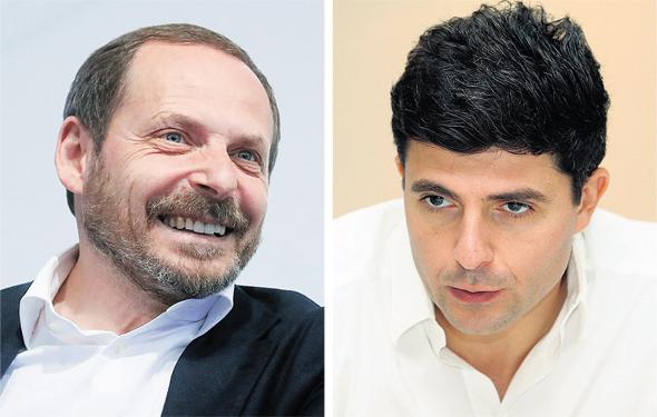 """מימין: מנכ""""ל גט דייב וייסר ומנכ""""ל ומייסד יאנדקס ארקדי וולוז"""
