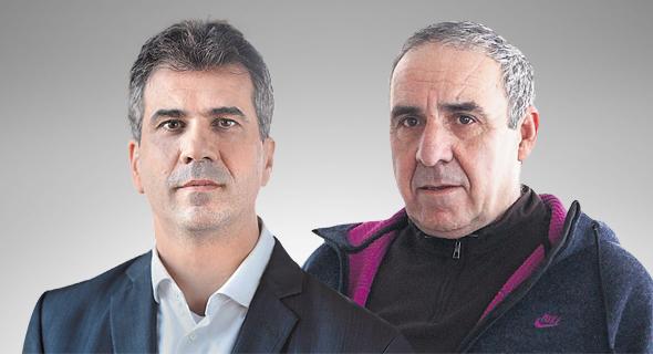 """מנכ""""ל נשר משה קפלינסקי ושר הכלכלה אלי כהן, צילומים: אוראל כהן, דוברות המפלגה כולנו"""