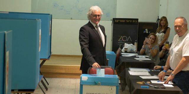 ציון אמיר בעת ההצבעה, צילום: נאור מנינגר