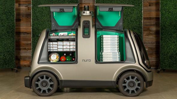 רכב אוטונומי של נורו ופיצה דומינו'ס
