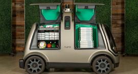 רכב אוטונומי של פיצה דומינו'ס, צילום: Dimino's