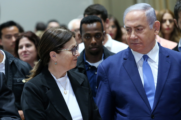 ראש הממשלה בנימין נתניהו ונשיאת בית המשפט העליון אסתר חיות