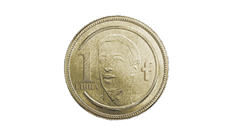 צוקרברג מוטבע על גבי  מטבע