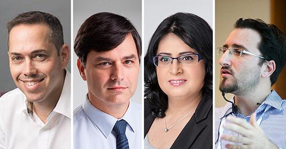 מימין: ערן שוסט, יבגניה קרמר, הודי זק ואבי אייל