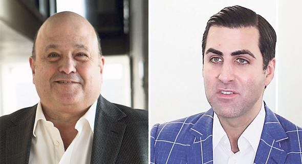 מימין: דארן גלאט, שותף מנהל בקרן סרצ'לייט ואיש העסקים דוד פורר