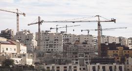 אתר בנייה רמת בית שמש עץ השקד, צילום: אלכס קולומויסקי