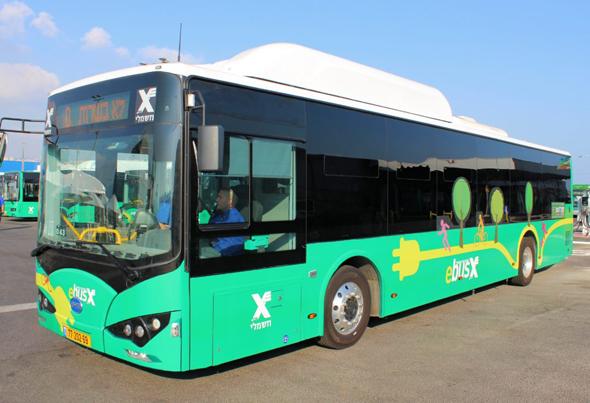 אוטובוס חשמלי של אגד, צילום: אגד