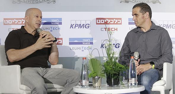יובל טל מייסד Payoneer בשיחה עם מאיר אורבך, צילום: עמית שעל