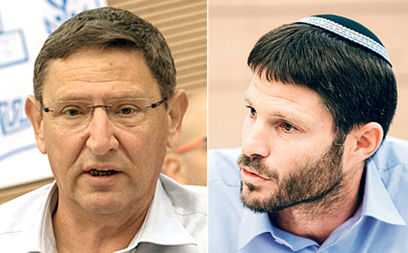 מימין: בצלאל סמוטריץ' ואודי אדם
