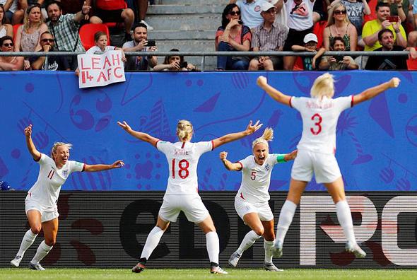 נבחרת הנשים של אנגליה במונדיאל 2019, צילום: רויטרס