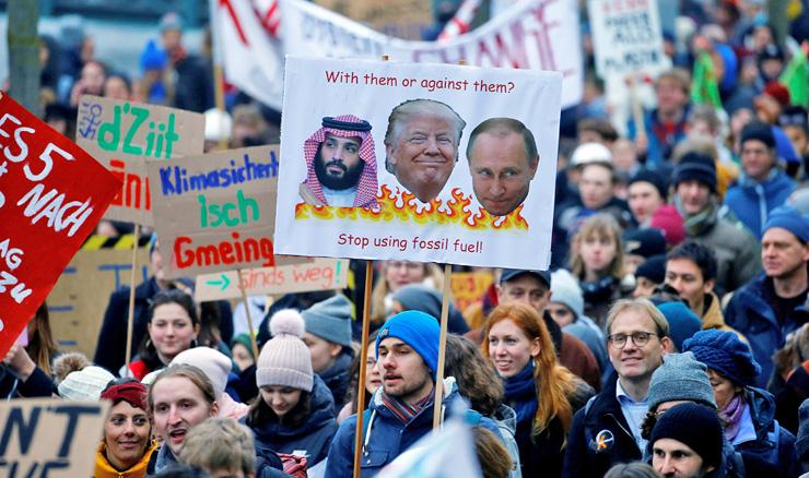 הפגנה בשווייץ למען הסכם אקלים גלובלי, פברואר 2019, צילום: רויטרס