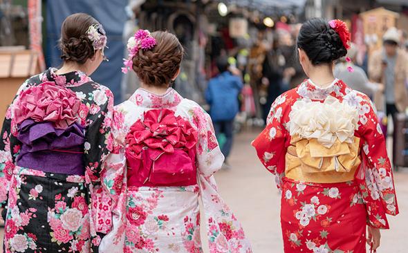קימונו יפני מסורתי, צילום: שאטרסטוק